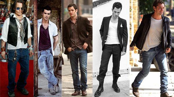 jeans dentro stivali uomo