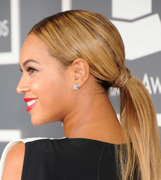 Beyonce-low-ponytail-grammy-awards-2013