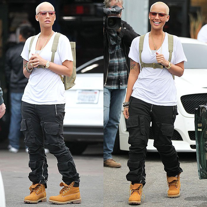 Amber-Rose-Timberland-boots