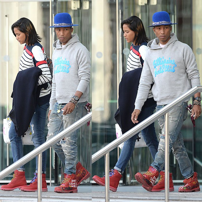 Helen-Lasichanh-Pharrell-Williams-Timberland-boots